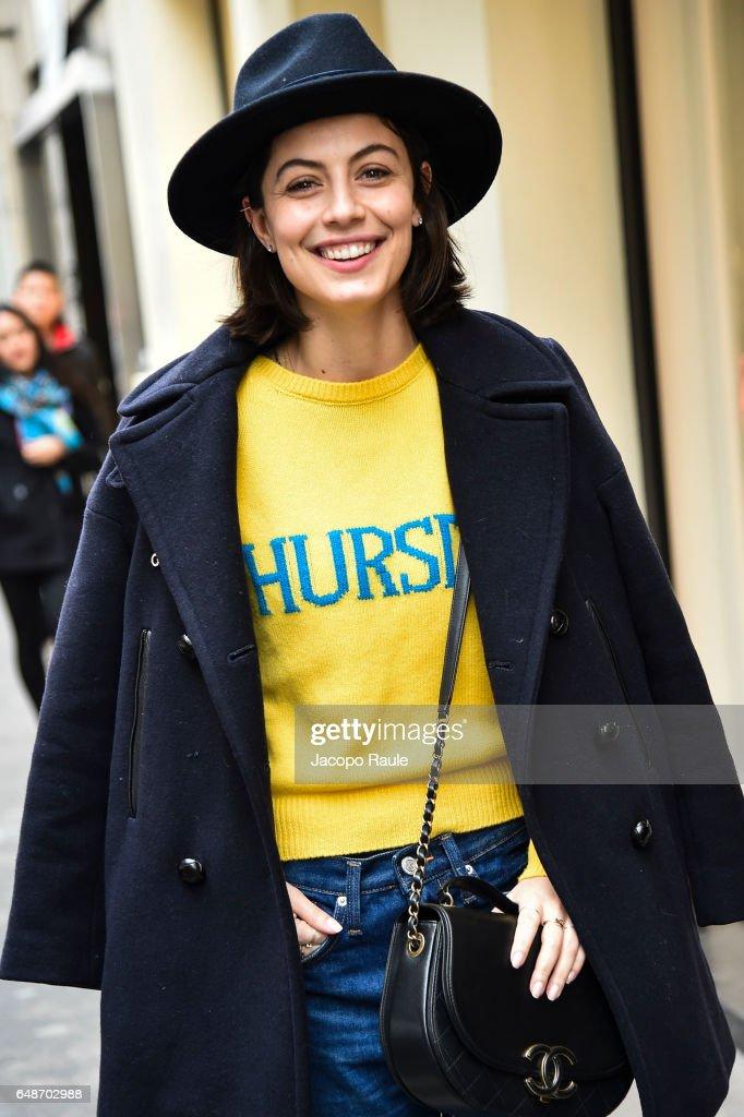 Celebrity Sighting : Day Seven - Paris Fashion Week Womenswear Fall/Winter 2017/2018