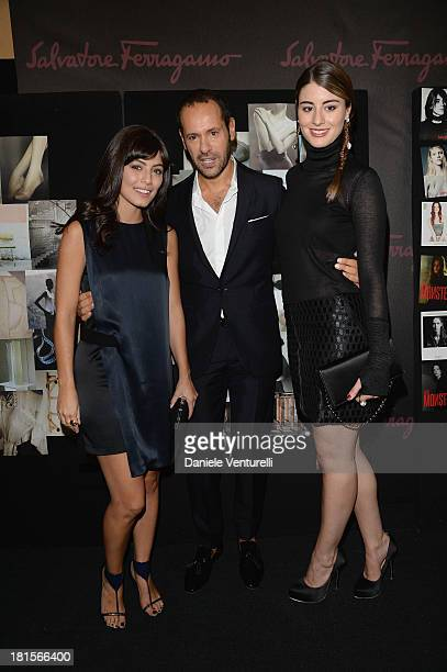Alessandra Mastronardi Massimiliano Giornetti and Dominik GarciaLorido attend the Salvatore Ferragamo show as part of Milan Fashion Week Womenswear...