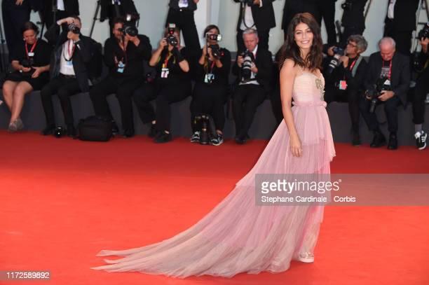 Alessandra Mastronardi walks the red carpet ahead of the Gloria Mundi screening during the 76th Venice Film Festival at Sala Grande on September 05...