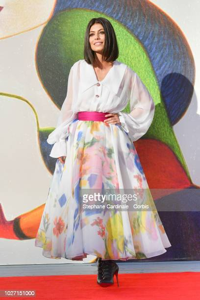Alessandra Mastronardi walks the red carpet ahead of the 'L'Annee Derniere a Marienbad' screening during the 75th Venice Film Festival at Sala...