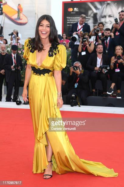 Alessandra Mastronardi walks the red carpet ahead of the Marriage Story screening during during the 76th Venice Film Festival at Sala Grande on...