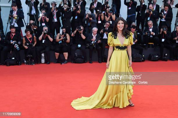 "Alessandra Mastronardi walks the red carpet ahead of the ""Marriage Story"" screening during the 76th Venice Film Festival at Sala Grande on August 29,..."