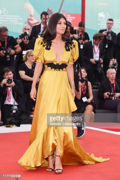 """Alessandra Mastronardi walks the red carpet ahead of the """"Marriage Story"""" screening during during the 76th Venice Film Festival at Sala Grande on..."""