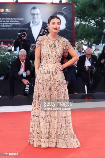 """Alessandra Mastronardi walks the red carpet ahead of the """"Om Det Oandliga"""" screening during the 76th Venice Film Festival at Sala Grande on September..."""