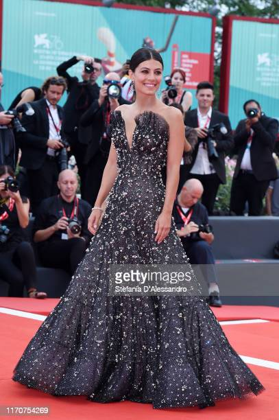"""Alessandra Mastronardi walks the red carpet ahead of the Opening Ceremony and the """"La Vérité"""" screening during the 76th Venice Film Festival at Sala..."""