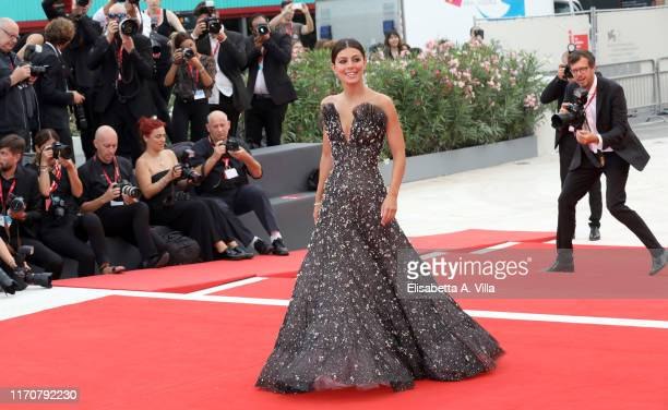 Alessandra Mastronardi walks the red carpet ahead of the opening ceremony during the 76th Venice Film Festival at Sala Casino on August 28 2019 in...