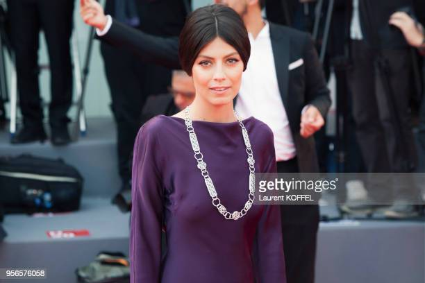 Alessandra Mastronardi walks the red carpet ahead of the 'Suburbicon' screening during the 74th Venice Film Festival at Sala Grande on September 2...