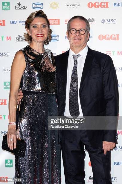 Alessandra Mion and Ernst Knam attend the celebrations of the 80 years of the Oggi magazine at Hotel Principe di Savoia on October 02 2019 in Milan...