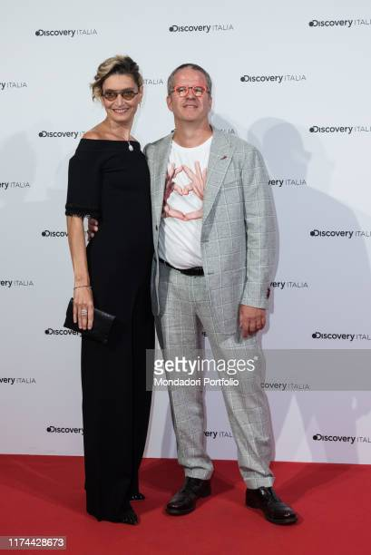 Alessandra Mion Ernst Knam attend at the presentation of the new palimpsests of Discovery Italia at Piccolo Teatro Strehler Milan September 5th 2019