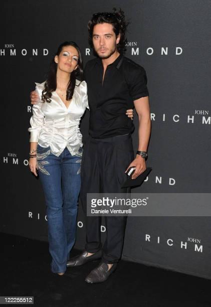 Alessandra Moschillo and Daniele Santoianni attend the John Richmond Milan Menswear Spring/Summer 2011 show on June 21 2010 in Milan Italy