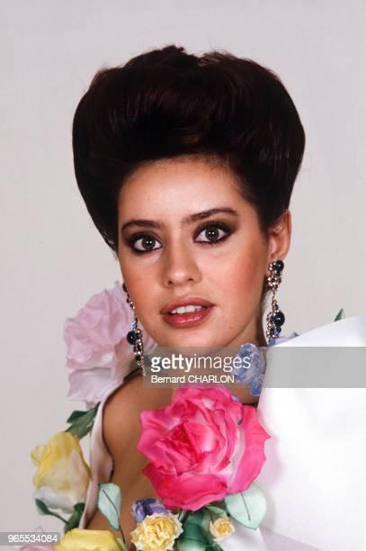 Alessandra Mussolini mannequin pour Guy Laroche le 23 janvier 1983 à Paris France