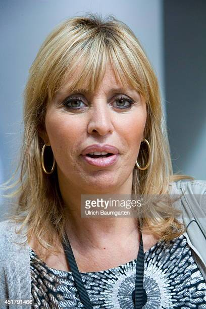Alessandra Mussolini member of the EVP in the European Parliament and granddaughter of former dictator Benito Mussolini on July 02 2014 in...