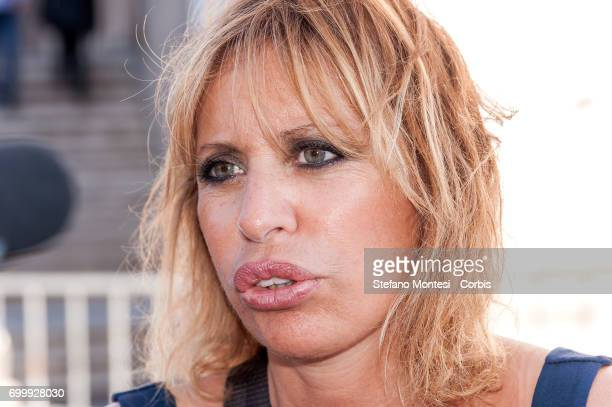 Alessandra Mussolini MEP of Forza Italia attends a demonstration consisting of citizens' committees and Forza Italia against the administration of...