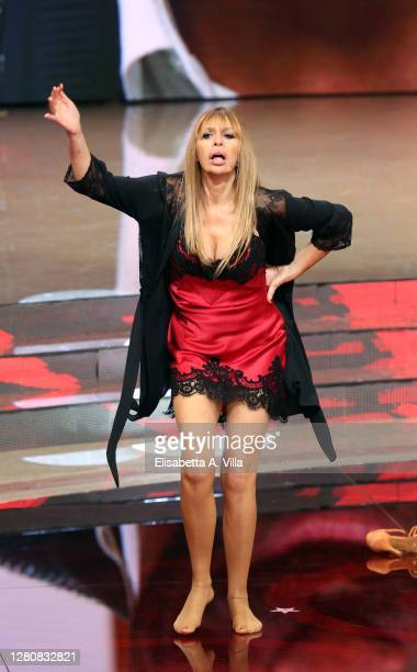 "Alessandra Mussolini performs on the ""Ballando Con Le Stelle"" Tv Show on October 17, 2020 in Rome, Italy."