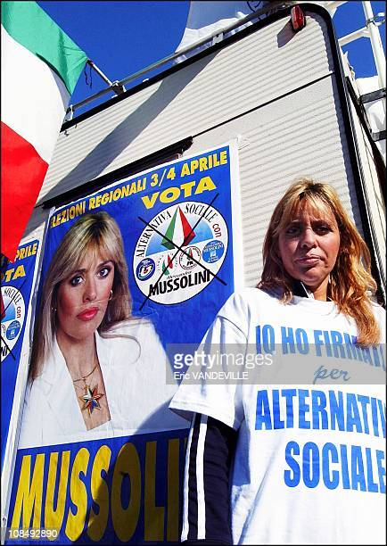 Alessandra Mussolini said she will stand vigil in a van outside the court building where she submitted her appeal waiting there until the verdict 'I...
