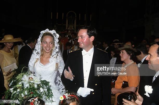 Alessandra Passerin D'entrèves Marries Jacques De Crussol D'uzes A la cathédrale SaintThéodorit d'Uzès ALESSANDRA PASSERIN D'ENTREVES et JACQUES DE...