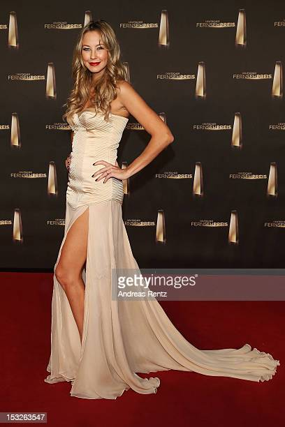 Alessandra Pocher arrives for the German TV Award 2012 at Coloneum on October 2 2012 in Cologne Germany