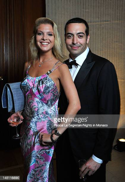 Alessandra Pozzi and Mohammed Al Turki attend the Nights In Monaco Gala Fundraiser Cocktail Reception equally benefiting The Prince Albert II of...