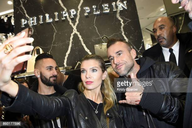 Alessandra Pozzi and Philipp Plein attend the Philipp Plein Store Opening Cocktail on December 14 2017 in Paris France