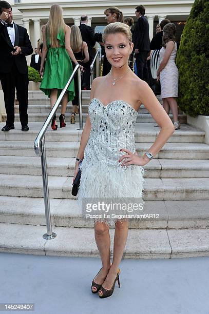 Alessandra Pozzi arrives at the 2012 amfAR's Cinema Against AIDS during the 65th Annual Cannes Film Festival at Hotel Du Cap on May 24 2012 in Cap...