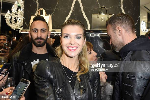 Alessandra Pozzi attends the Philipp Plein Store Opening Cocktail on December 14 2017 in Paris France
