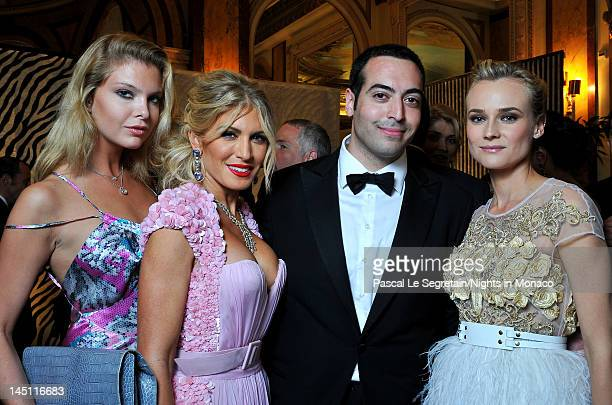 Alessandra Pozzi Hofit Golan Mohammed Al Turki and actress Diane Kruger attend the 'Nights In Monaco' Gala Fundraiser Cocktail Reception equally...