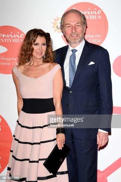 Alessandra Repini and Arturo Artom attend Convivio photocall on June 5 2018 in Milan Italy
