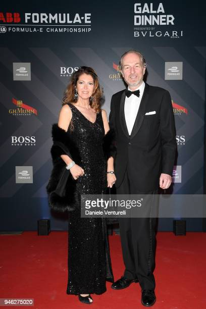 Alessandra Repini and Arturo Artom attend FIA Formula E Gala Dinner at Villa Miani on April 14 2018 in Rome Italy