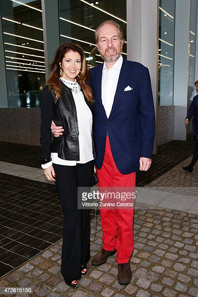 Alessandra Repini and Arturo Artom attend the Fondazione Prada Opening on May 8 2015 in Milan Italy