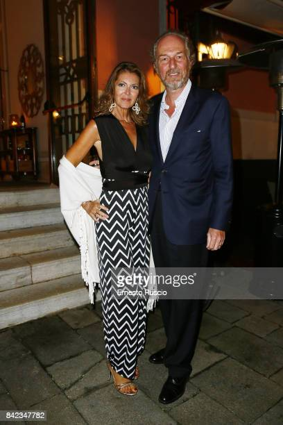 Alessandra Repini and Arturo Artom attend the Leisure Seeker party during the 74th Venice Film Festival at San Clemente Palace Hotel on September 3...