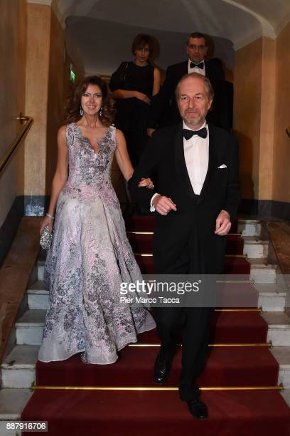 Alessandra Repini and Arturo Artom attend the Prima Alla Scala at Teatro Alla Scala on December 7 2017 in Milan Italy