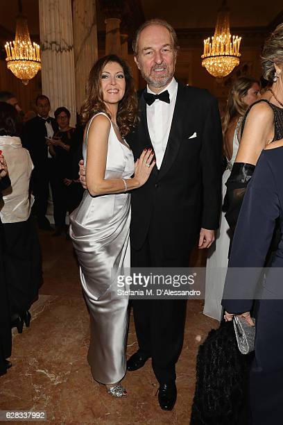 Alessandra Repini and Arturo Artom attend the Teatro alla Scala season 2016/17 opening at Teatro Alla Scala on December 7 2016 in Milan Italy