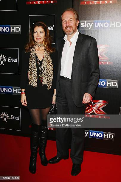 Alessandra Repini and Arturo Artom attend 'X Factor 2013 The Final' Red Carpet on December 12 2013 in Milan Italy