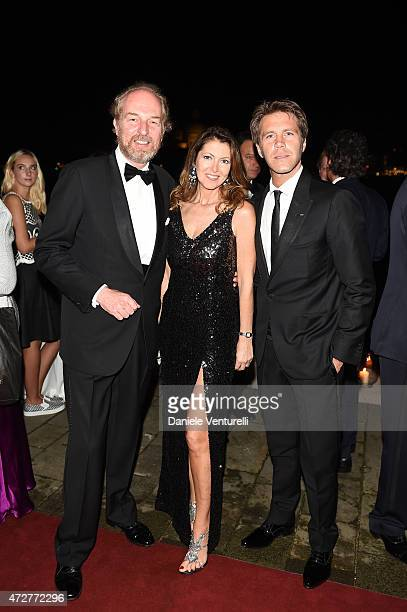 Alessandra Repini Arturo Artom and Emanuele Filiberto di Savoia attend the Venetian Heritage And Bulgari Gala Dinner at Cipriani Hotel on May 9 2015...