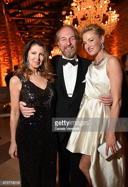 Alessandra Repini Arturo Artom and Princess Lilly Zu Sayn Wittgenstein Berleburg attend the Venetian Heritage And Bulgari Gala Dinner at Cipriani...