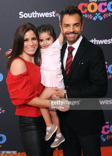 Alessandra Rosaldo Aitana Derbez and actor Eugenio Derbez attend the US Premiere of Disney Pixar's 'Coco' at El Capitan Theatre on November 8 2017 in...