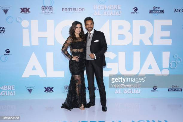 Alessandra Rosaldo and Eugenio Derbez attend the 'Overboard ' Mexico City premiere at Cinemex Antara on May 8 2018 in Mexico City Mexico