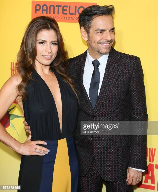 Alessandra Rosaldo and Eugenio Derbez attend the premiere of Pantelion Films' 'How To Be A Latin Lover' attends on April 26 2017 in Hollywood...