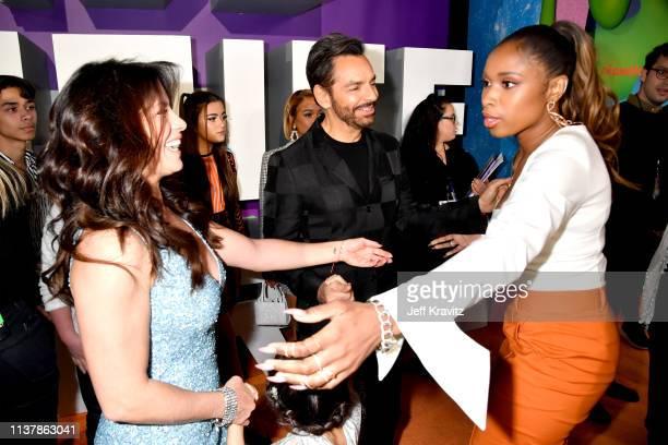 Alessandra Rosaldo Eugenio Derbez and Jennifer Hudson attend Nickelodeon's 2019 Kids' Choice Awards at Galen Center on March 23 2019 in Los Angeles...