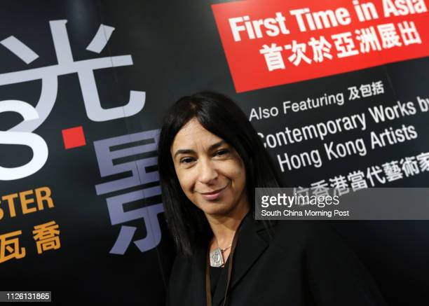 Alessandra Schiavo Consul General of Italy in Hong Kong and Macau joins the unpacking of Caravaggio's Supper at Emmaus at the Asia Society Hong Kong...