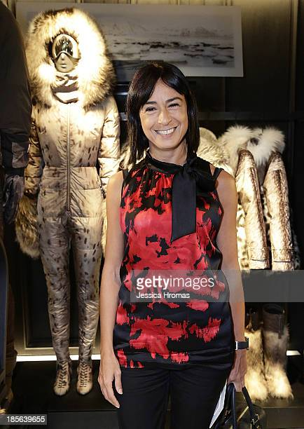 Alessandra Schiavo Italian Consul General of Hong Kong and Macau attends the opening of the Lee Gardens Moncler store on October 23 2013 in Causeway...