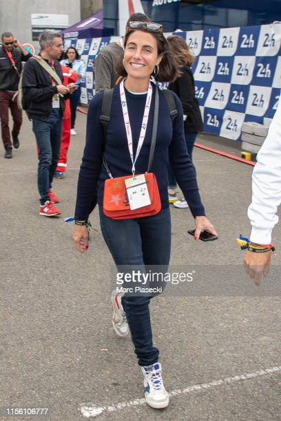Alessandra Sublet attends the 24 Hours of Le Mans race on June 15, 2019 in Le Mans, France.