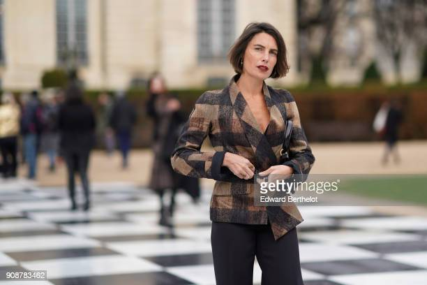 Alessandra Sublet attends the Christian Dior Haute Couture Spring Summer 2018 show as part of Paris Fashion Week on January 22 2018 in Paris France