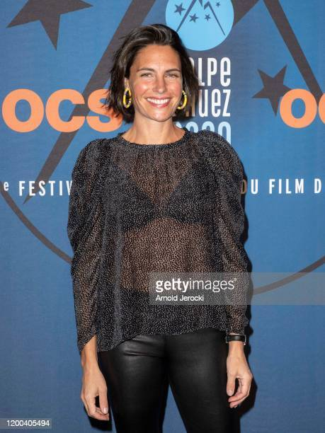 Alessandra Sublet attends the closing ceremony of the 23rd L'Alpe D'Huez International Comedy Film festival on January 18 2020 in Alpe d'Huez France