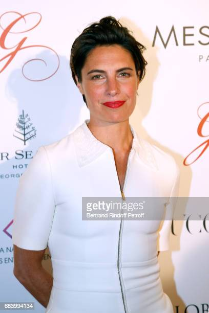 Alessandra Sublet attends the Global Gift the Eva Foundation Gala Photocall at Hotel George V on May 16 2017 in Paris France
