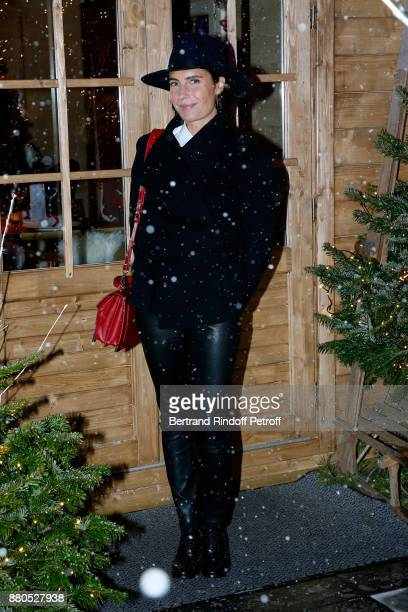 Alessandra Sublet attends the Inauguration of the Chalet Les Neiges 1850 on the terrace of the Hotel Barriere Le Fouquet's Paris on November 27 2017...