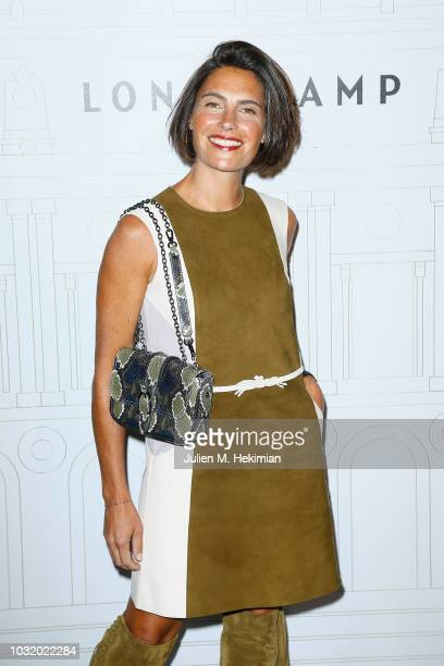 Alessandra Sublet attends the Longchamp 70th Anniversary Celebration at Opera Garnier on September 11 2018 in Paris France