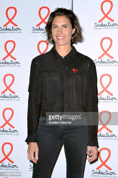 Alessandra Sublet attends the Sidaction 2019 photocall at Salle Wagram on March 18 2019 in Paris France