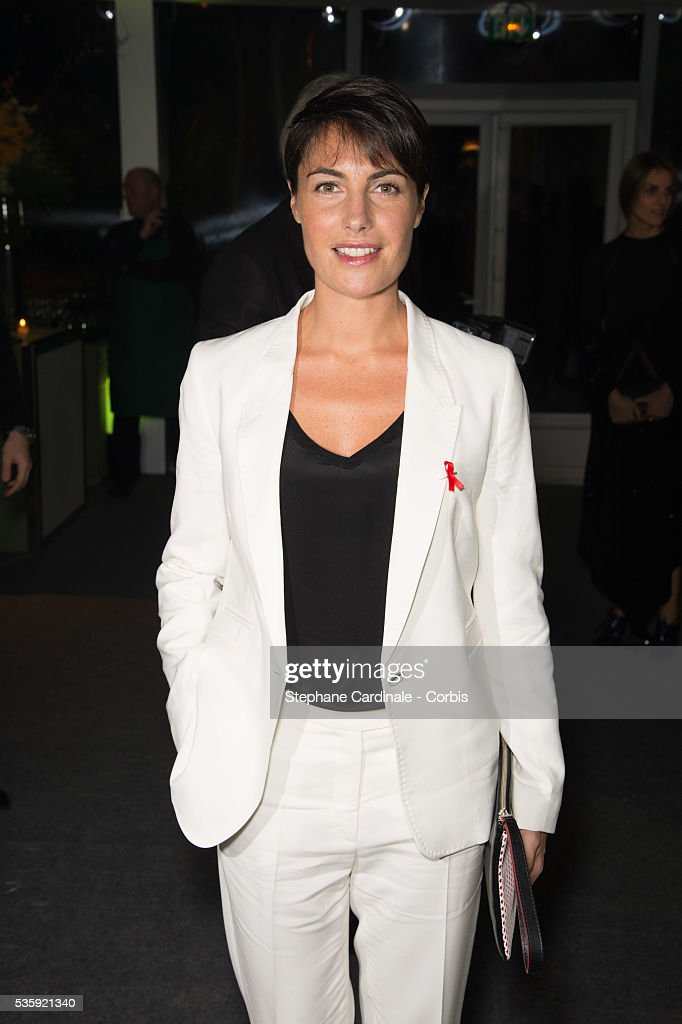 Alessandra Sublet attends the Sidaction Gala Dinner at Pavillon d'Armenonville, in Paris.
