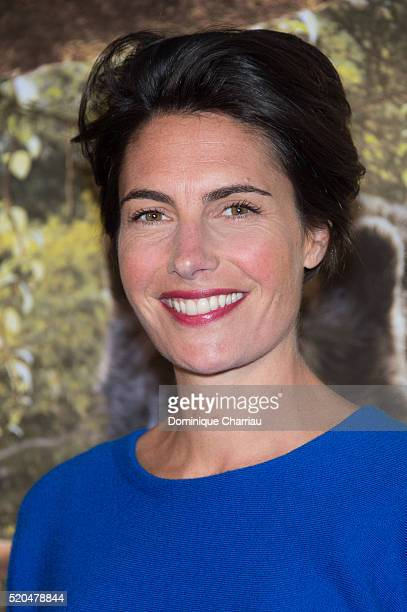 Alessandra Sublet attends the The Jungle Book Paris Premiere at Cinema Pathe Beaugrenelle on April 11 2016 in Paris France